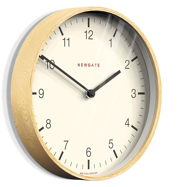 Modern Scandi Wall Clock - Extra-Large Minimalist Plywood - Newgate Mr Clarke MRC159PLY53 (skew)