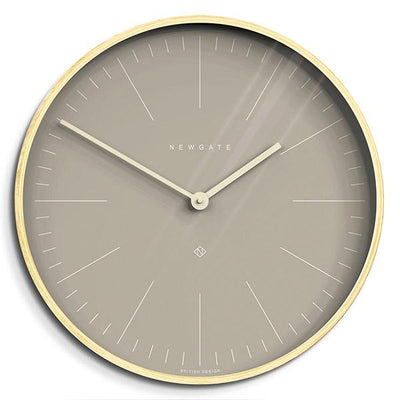 Modern Scandi Wall Clock - Large Plywood & Grey - Newgate Mr Clarke MRC147PLY53