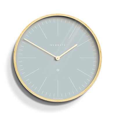 Modern Scandi Wall Clock - Plywood & Blue - Newgate Mr Clarke MRC128PLY40