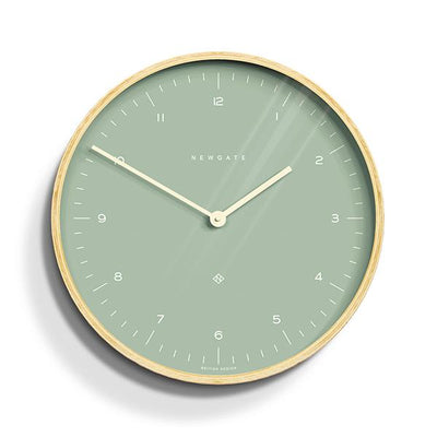 Modern Scandi Wall Clock - Plywood & Green - Newgate Mr Clarke MRC133PLY40