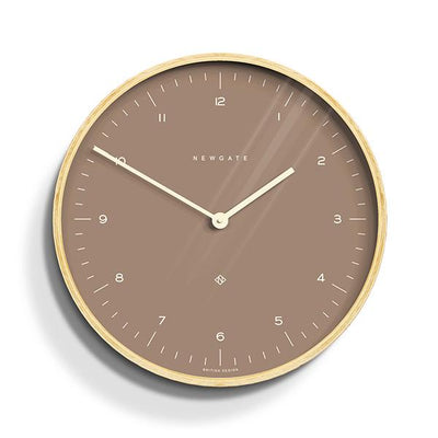 Modern Scandi Wall Clock - Plywood & Sienna - Newgate Mr Clarke MRC140PLY40