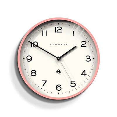 Modern Wall Clock - Bright Colour Pink - Newgate Echo NUMTHR129MPK