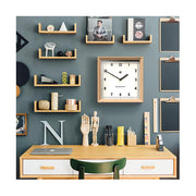 Modern Wood Wall Clock - Oak Square - Newgate Old Joe OLDJ638LO (room decor)