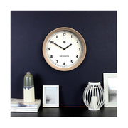 Modern Wood Wall Clock - Solid Light Oak - Newgate General GEN648LO (homeware) 1 copy
