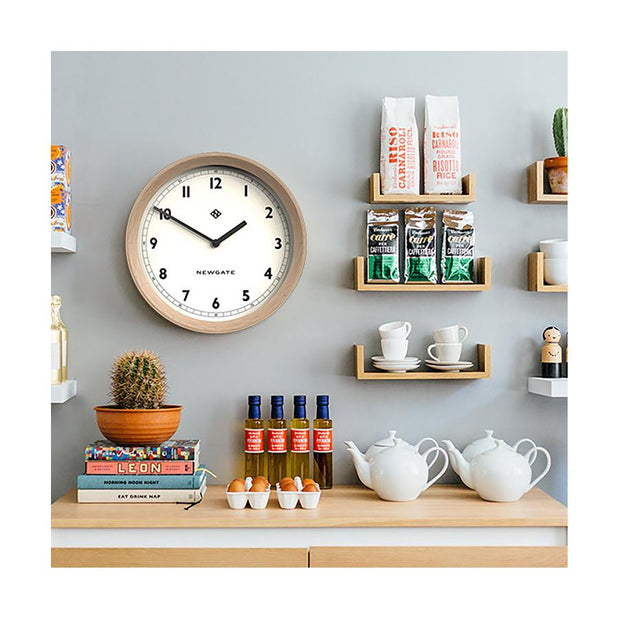 Modern Wood Wall Clock - Solid Light Oak - Newgate General GEN648LO (room decor) 1 copy