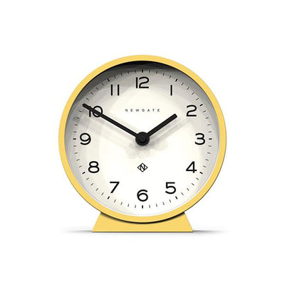 Modern Yellow Mantel Clock - Colourful Contemporary - Newgate MMAN678CHY