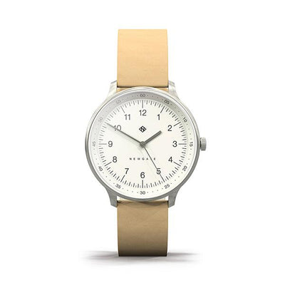Nude Nubuck Leather Watch - Men's Women's - British Design - Newgate Blip WWMBLPVS056LS (front)
