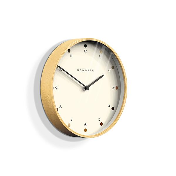 Small Modern Wall Clock - Minimalist Plywood - Newgate Mr Clarke MRC161PLY28 (skew)