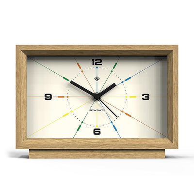 Solid Wood Mantel Clock - Modern Light Oak - Newgate Hollywood Hills MAN-HOLH708LO