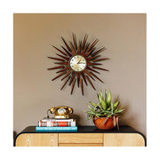 Sunburst Wall Clock - Mid-Century Wooden Star Rays - Newgate Pluto PLUTOG (room decor) 1 copy