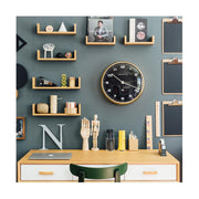 Modern Metal Wall Clock - Gold Brass Black Dial - Silent 'No Tick' - Newgate Chrysler WAT407RAB (homeware) 1 copy