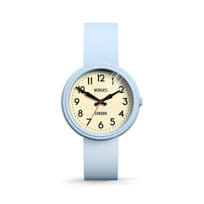 Retro Pastel Blue Watch | Colourful Silicone | Electric