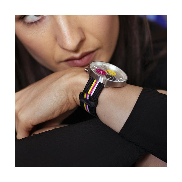 G6S Multicolour Striped Canvas Watch Strap - Belt - Women's Gifting
