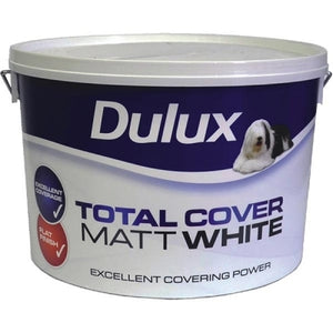 Dulux Total Cover Matt White  10 Litre