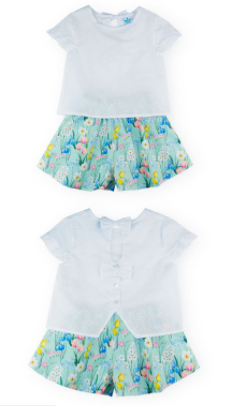 Naomi Blouse and Shorts set