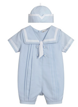 Load image into Gallery viewer, Sarah Louise Christening Suit - Little Sailor Boy
