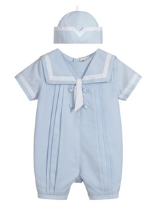Sarah Louise Christening Suit - Little Sailor Boy