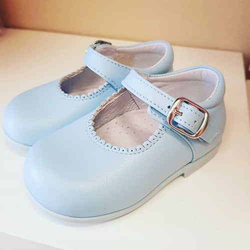 Baby shoes in baby blue