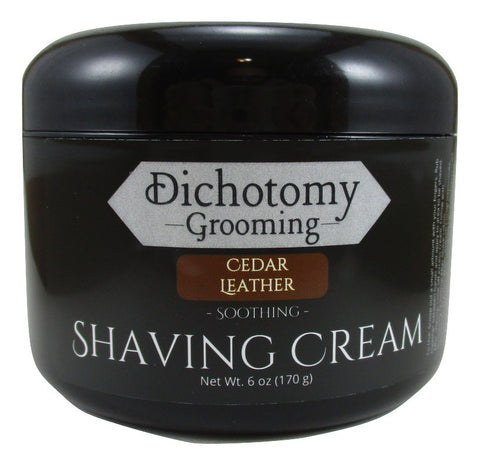 Cedar Leather Face and Head Shaving Cream