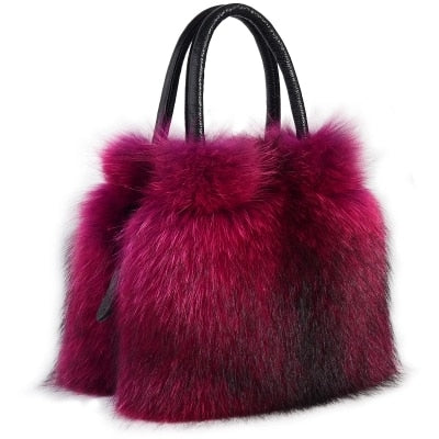 Fur female casual fashion bag