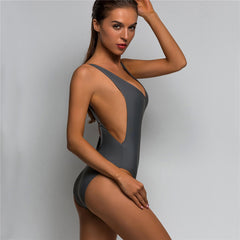 Sexy Low Back Swim Suit For Women