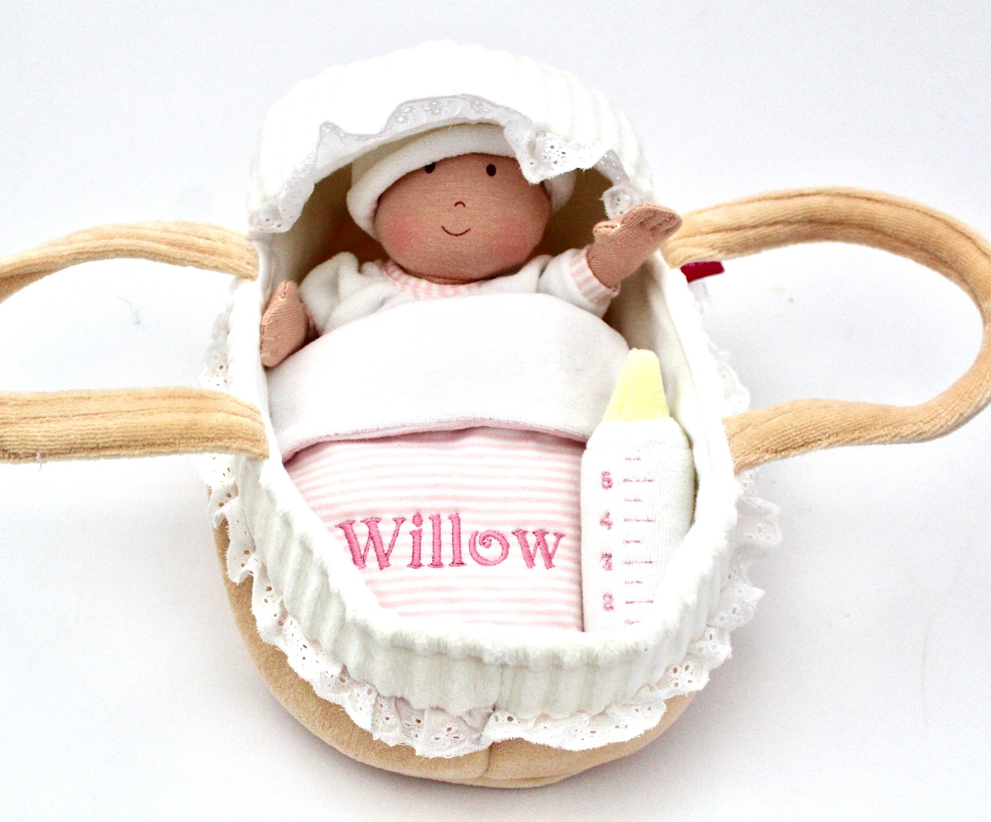 Gorgeous Baby and Carrycot Gift//Toy//Christmas//Christening