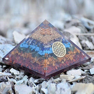 Floral Center Chakra Orgone Protection Pyramid