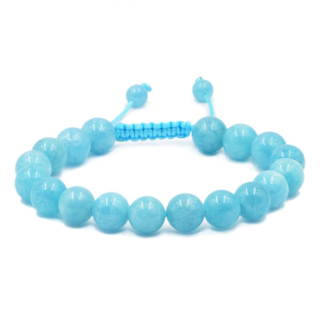 Aquamarine Jade Healing Adjustable Bracelet