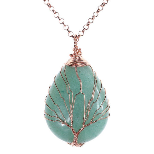 Tree of Life Aventurine Necklace