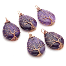 Load image into Gallery viewer, Tree of Life Amethyst Necklace