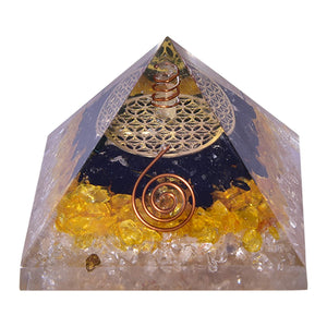 Tourmaline, Citrine & Quartz Pyramid