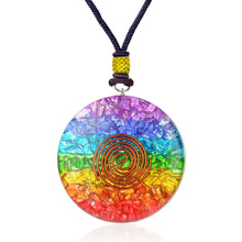 Load image into Gallery viewer, Chakra Round Generator Necklace