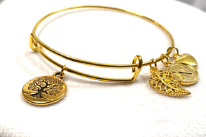 Personalized Tree of Life Bangle Bracelet