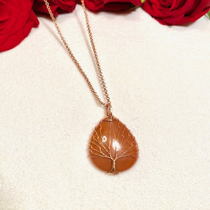 Tree of Life Carnelian Necklace
