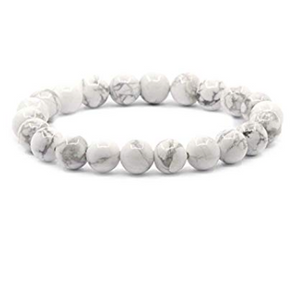 White Howlite Natural Bracelet