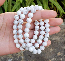 Load image into Gallery viewer, White Howlite Natural Bracelet