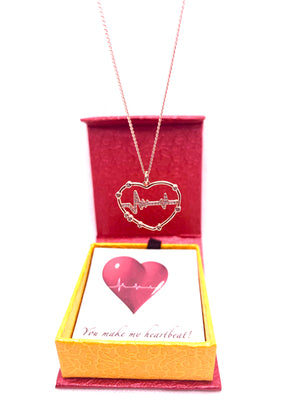 Heartbeat Real Rose Gold Necklace