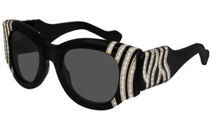 BB0070S 005 shiny black strass crystal--eye-oo.it