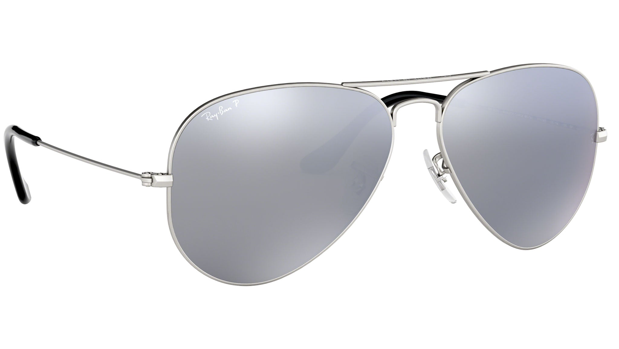 Aviator Mirror RB3025 silver metal grey--eye-oo.it