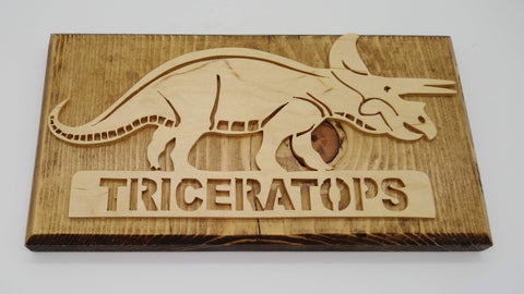 Three Horned Triceratops Plaque