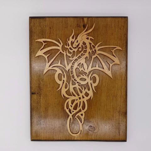Fierce Fiery Dragon Plaque - Kripp's Kreations