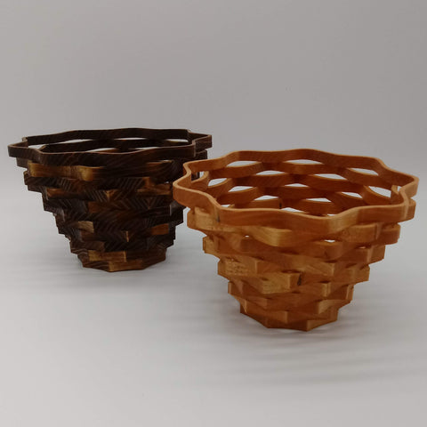 Small Nine Sided Decorative Basket - Kripp's Kreations