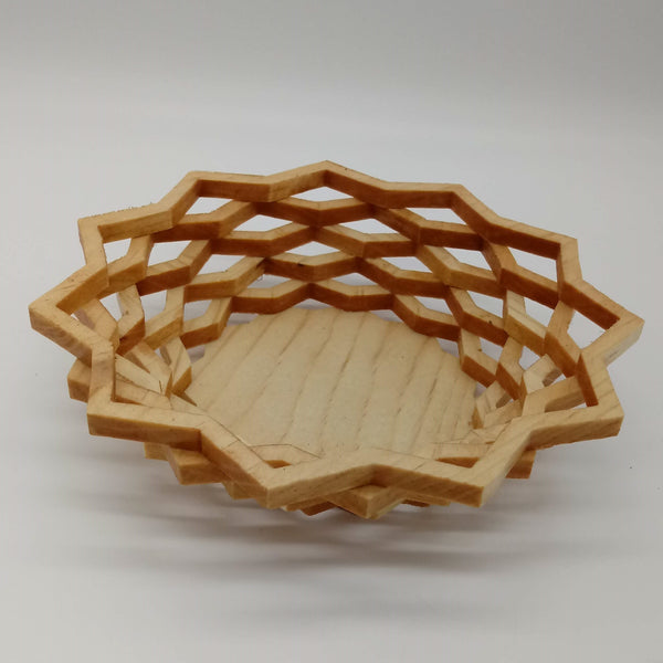 Star 6 Ring Decorative Basket - Kripp's Kreations