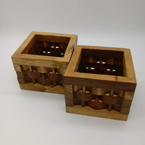 Wooden Weave Decorative Basket - Kripp's Kreations