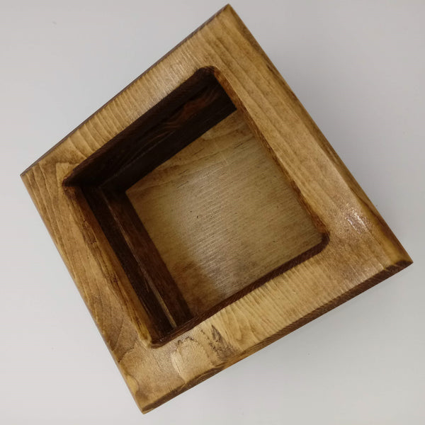 Large Reverse Weave Square Basket - Kripp's Kreations