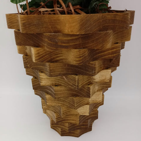 Large Nine Sided Decorative Basket - Kripp's Kreations