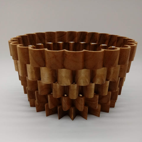 Sunburst Wood Basket - Kripp's Kreations
