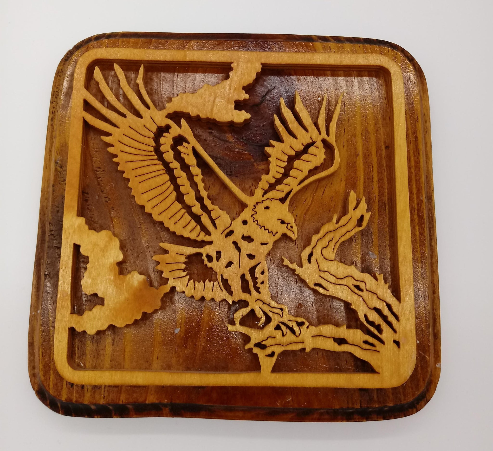 Bald Eagle Hanging Wall Plaque - Kripp's Kreations