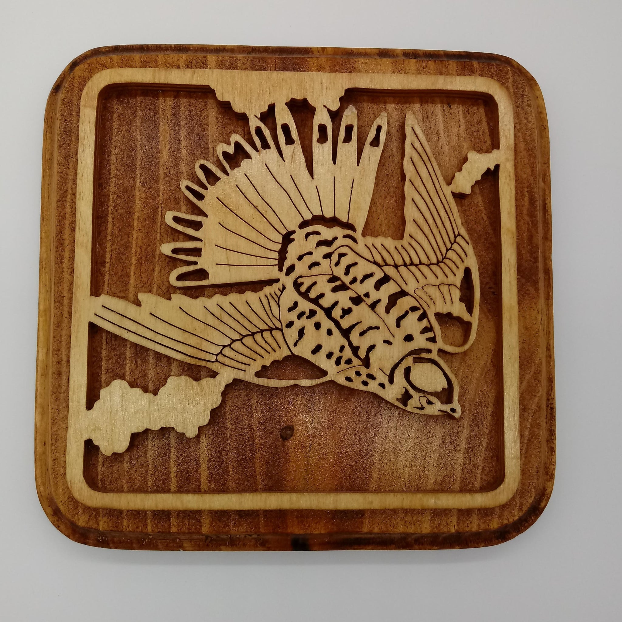 American Sparrow Hawk Plaque - Kripp's Kreations
