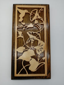Hummingbird Floral Fretwork Decoration - Kripp's Kreations